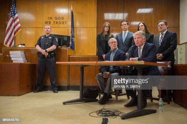 Manhattan District Attorney Cyrus Vance Jr speaks as Stanley Patz looks on following the sentencing of Pedro Hernandez convicted for the 1979...