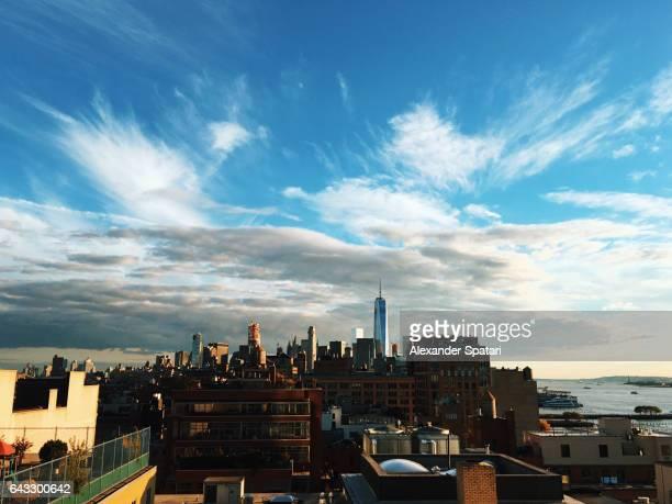 Manhattan Downtown at sunset, New York, United States