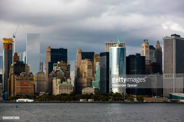 Manhattan Downtown skyline on a cloudy day