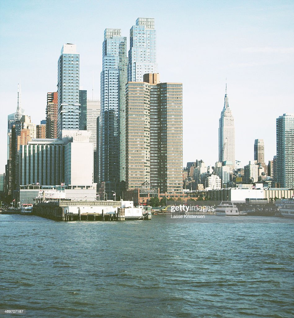 Manhattan from the sea : Stock Photo