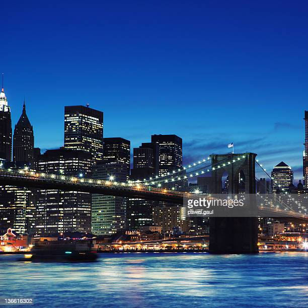 Manhattan in NYC by night