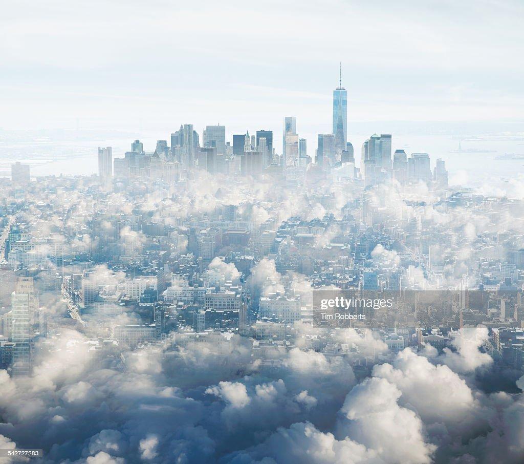 Manhattan in the clouds.