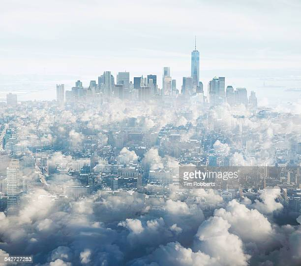 Manhattan in the clouds.