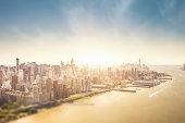 Manhattan Island aerial view