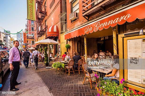 Manhattan, Little Italy, a restaurant