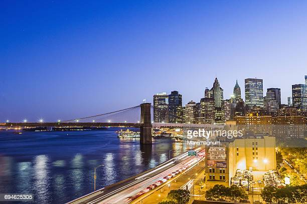 Manhattan, lower Manhattan and Brooklyn Bridge