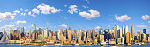 Manhattan Midtown skyline panorama over Hudson River, New York