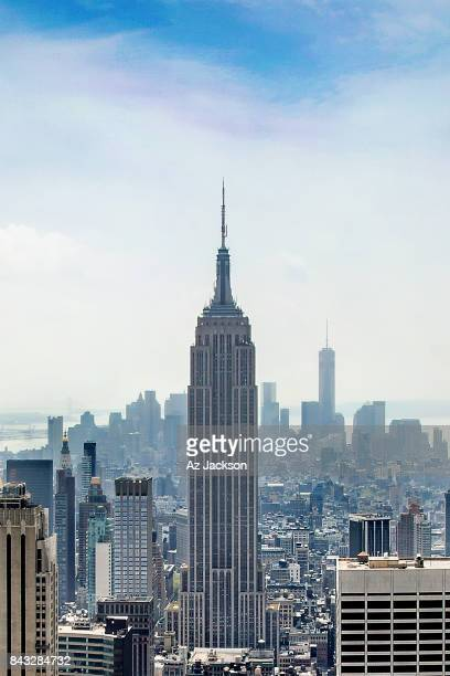 Manhattan skyline featuring the Empire State Building and One World Trade Center