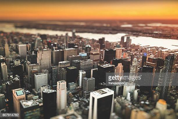 Manhattan skyline from an aerial view
