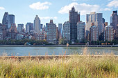 The Midtown Manhattan skyline seen from Roosevelt Island in New York, NY, USA.