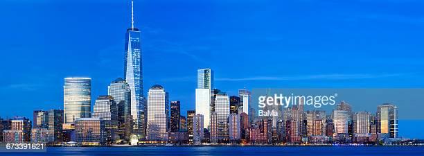 Manhattan Skyline, New York, Panoramic View