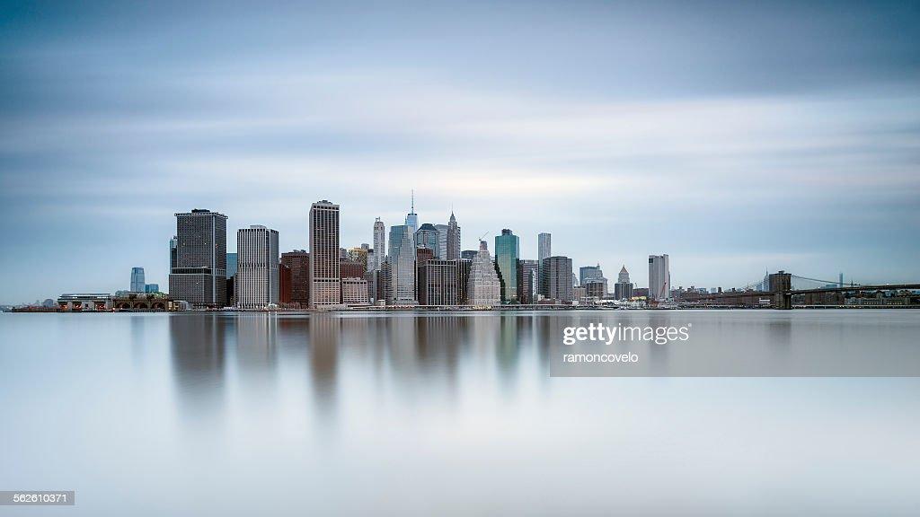 Manhattan skyline of financial district, New York, USA