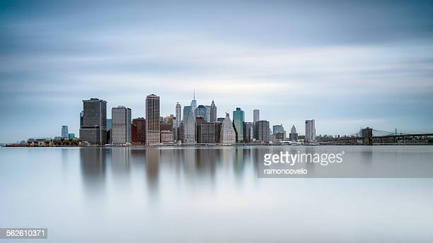 Manhattan skyline of financial district, New York, USA