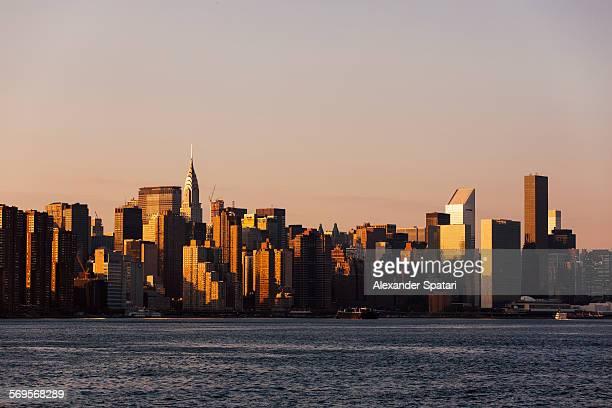 Manhattan skyline seen from Williamsburg, Brooklyn