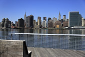 Manhattan skyline with East River in foreground