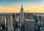 Iconic skyscrapers in New York City.