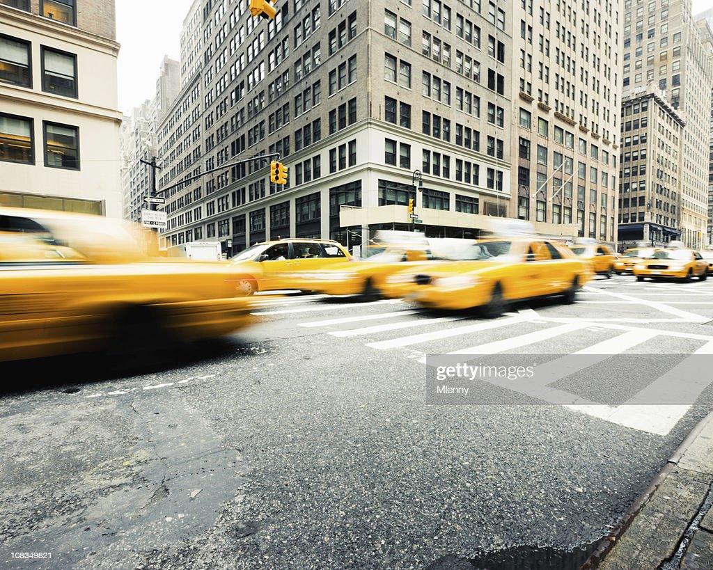 Manhattan Taxi Traffic New York City : Stock Photo
