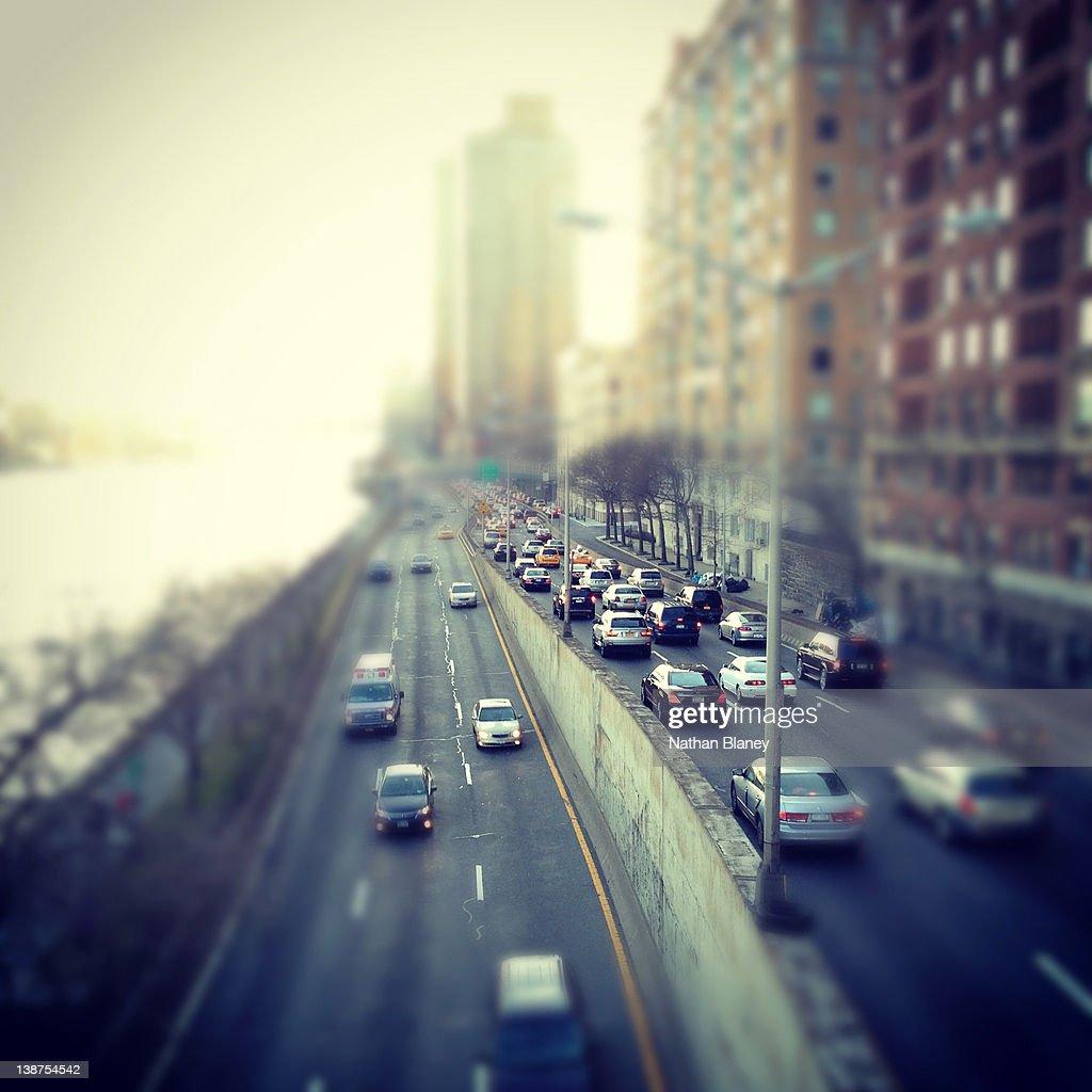 Manhattan traffic : Stock Photo