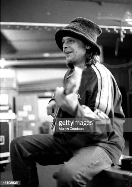 Mani bassist with The Stone Roses rehearsing in Manchester United Kingdom 1994
