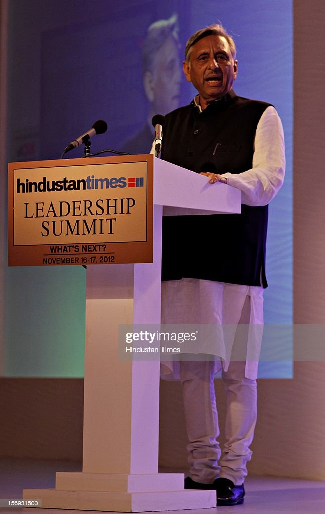 Mani Shankar Aiyar, Member of Parliament, Rajya Sabha speaks during the first day of the Hindustan Times Leadership Summit on November 16, 2012 in New Delhi, India.
