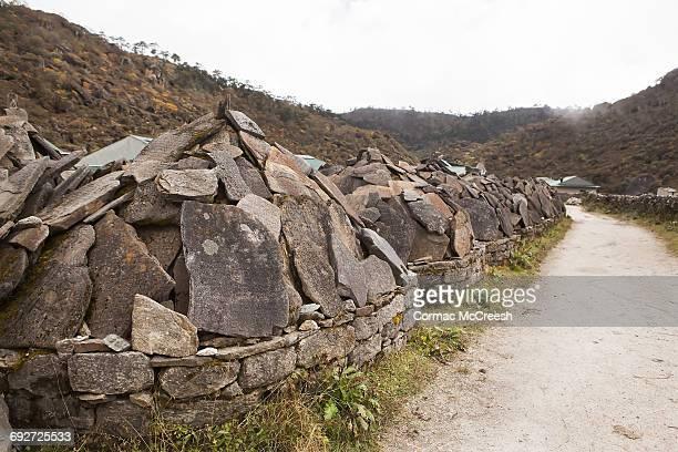 Mani wall, Khumjung, Nepal
