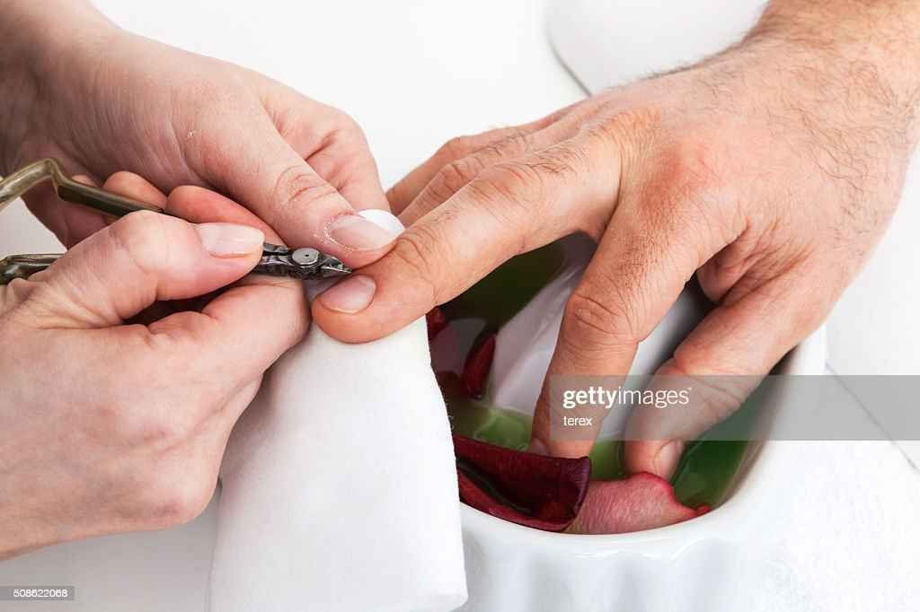 Manicure man close up : Stock Photo