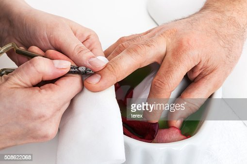 Manicure man close up : Stock Photo