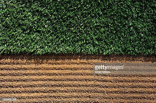 Manicured Sports Field between turf and dirt