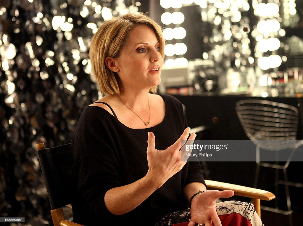 Manicurist April Forman on set during Behind The Beauty Documentary - Day 2 at The Redbury Hotel on December 19, 2012 in Hollywood, California.