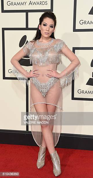 Manika arrives on the red carpet during the 58th Annual Grammy Music Awards in Los Angeles February 15 2016 AFP PHOTO/ Valerie MACON / AFP / VALERIE...