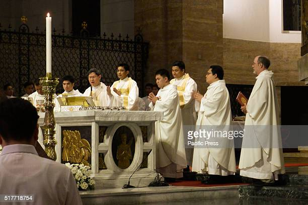 CATHEDRAL MANILA PHILIPPINES Manila Archbishop Luis Antonio Tagle leads the closing remarks Maundy Thursday is the name given to the day on which...