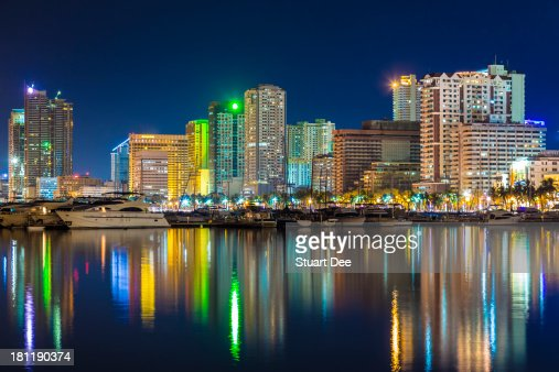 Manila city skyline at night