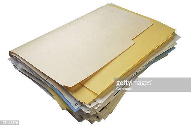 Manila file full of documents
