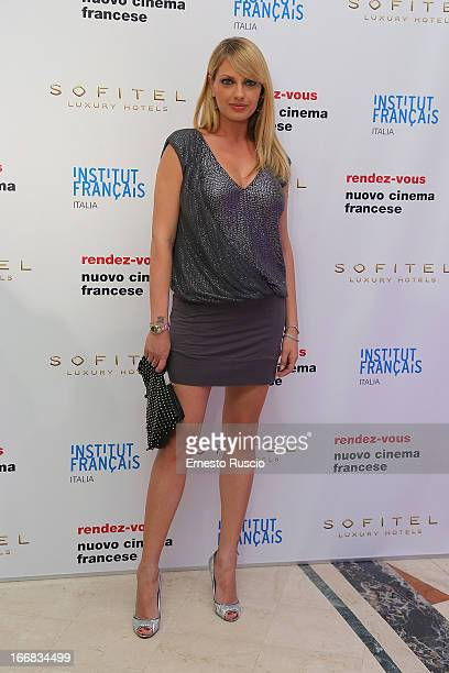 Manila Nazzaro attends the RendezVous Film Festival opening night at Hotel Sofitel on April 17 2013 in Rome Italy