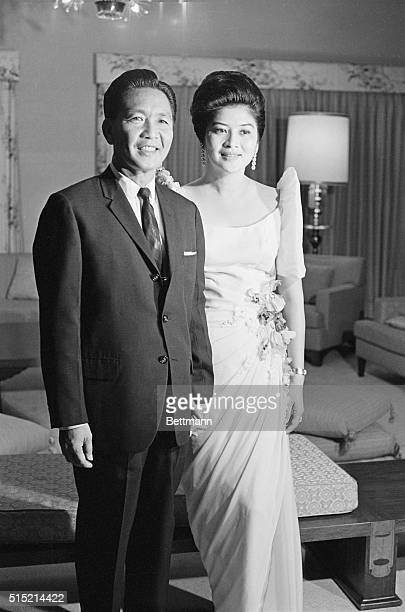 Presidentelect Ferdinand Marcos and his wife Imelda Romualdez Marcos dressed in formal and semiformal attire Filed