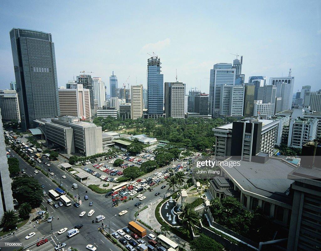 Manila Skyline : Stock Photo