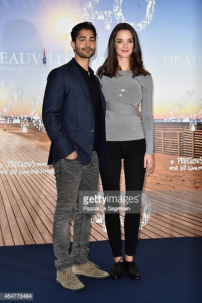 Manish Dayal and Charlotte Le Bon attend 'The Hundred Foot Journey' photocall on September 6 2014 in Deauville France