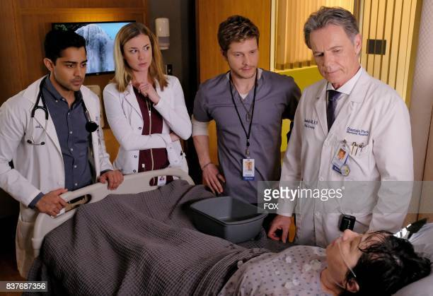 Manish Dayal Emily VanCamp Matt Czuchry and Bruce Greenwood in THE RESIDENT premiering midseason on FOX