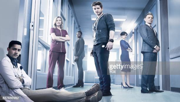 Manish Dayal Emily VanCamp Shaunette Renée Wilson Matt Czuchry Valerie Cruz and Bruce Greenwood in THE RESIDENT premiering midseason on FOX