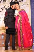 Manish Malhotra and Shabana Azmi during her Charity Show 'Mizwan' which is an Welfare Society run by her at Trident Bandra Kurla Mumbai
