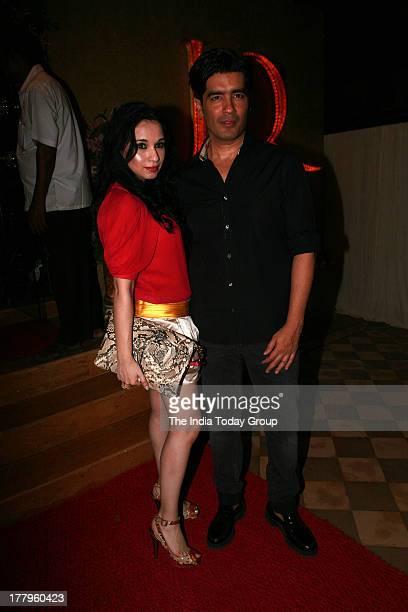 Manish Malhotra and Sheetal Mafatlal at Queenie Dhodys store launch in Mumbai