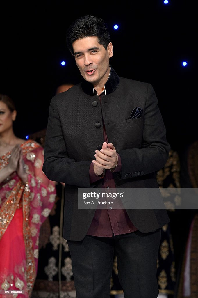 Manish Malhotra attends a charity fundraising event hosted by Manish Malhotra in aid of 'Save the Girl Child' at The Grosvenor House Hotel on February 23, 2013 in London, England.