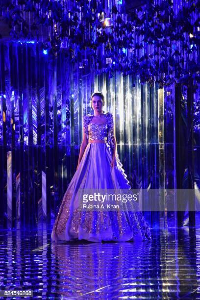 Manish Malhotra's 'Sensual Affair' collection at the FDCI's India Couture Week 2017 at the Taj Palace hotel on July 30 2017 in New Delhi India