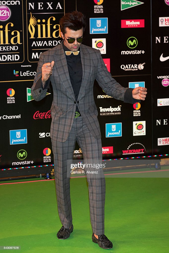 Manish Paul attends the 17th IIFA Awards (International Indian Film Academy Awards) at Ifema on June 25, 2016 in Madrid, Spain.