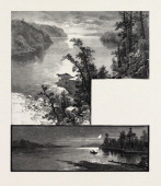 Manitoba Cross Lake Lake Deception Canada Nineteenth Century Engraving