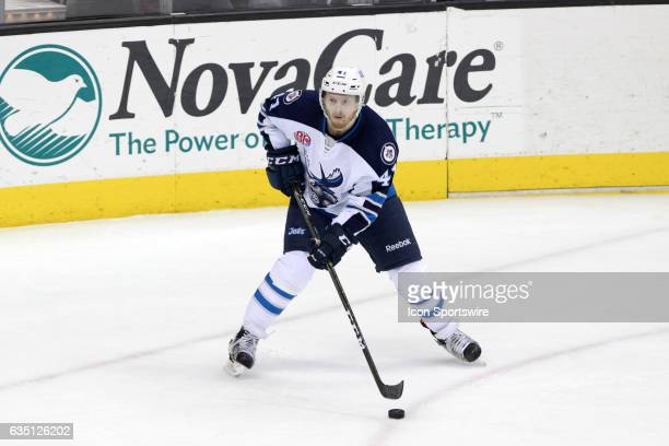 Manitoba Moose LW Kyle Connor looks to pass during the third period of the AHL hockey game between the Manitoba Moose and Cleveland Monsters on...