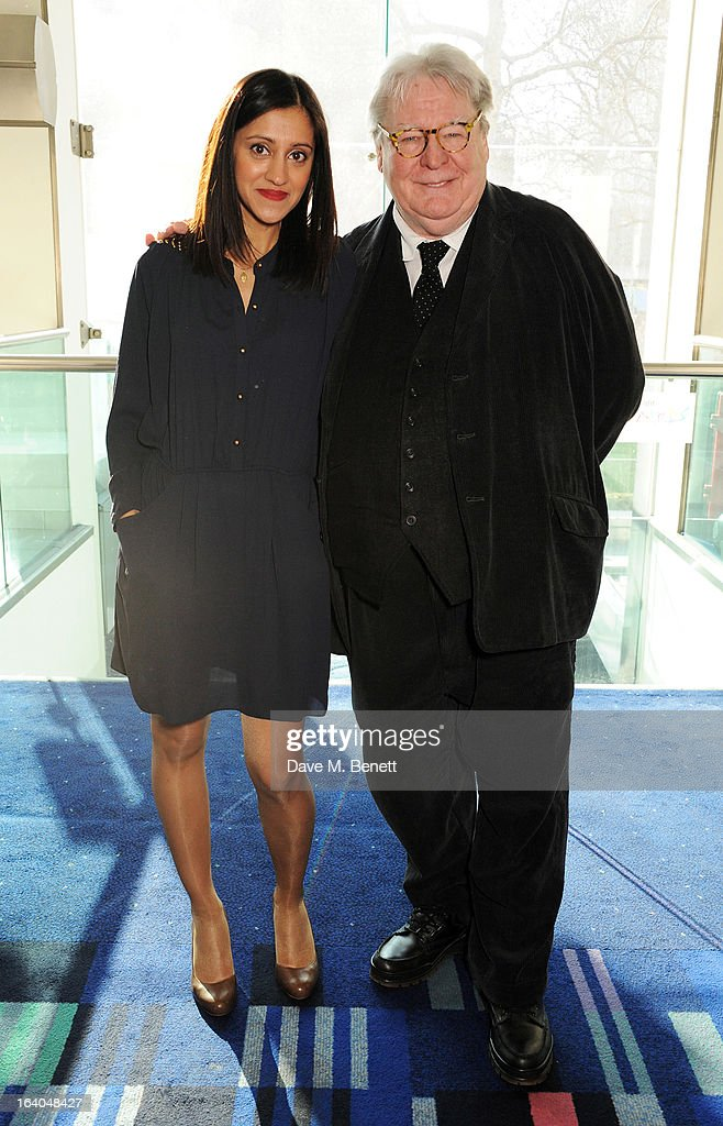 Manjinder Virk (L) and Sir Alan Parker attend the First Light Awards at Odeon Leicester Square on March 19, 2013 in London, England.