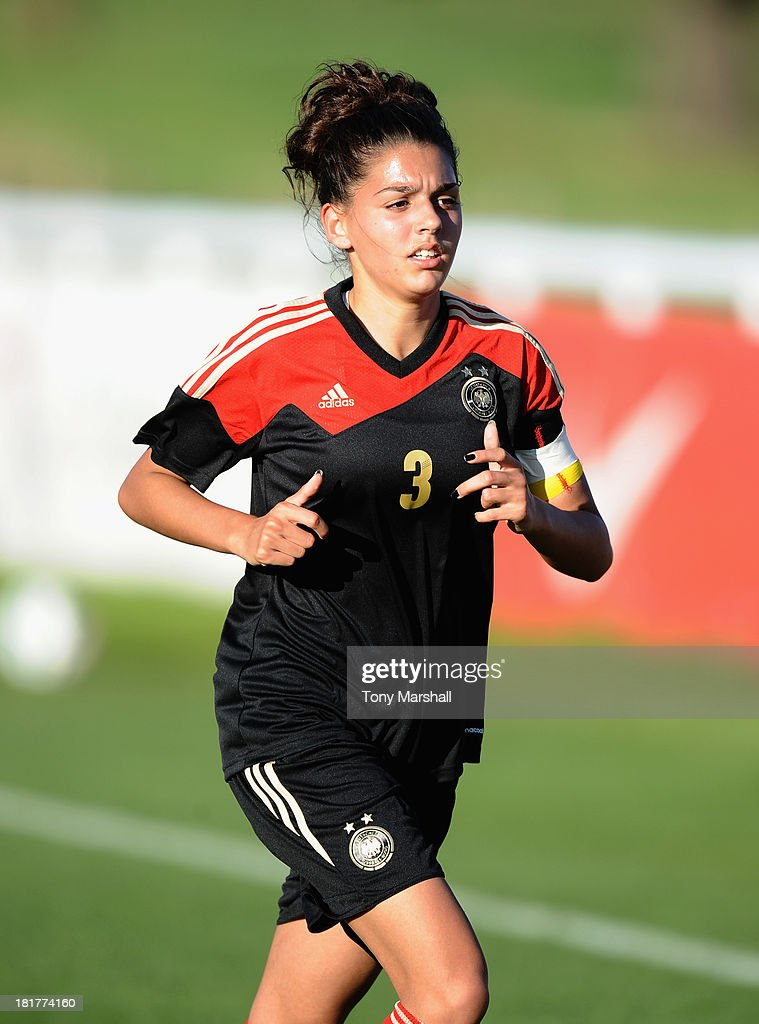 Manjou Wlide of Germany during the Women's International Friendly match between England Under 19 Women and Germany Under 19 Women at St George's Park on September 22, 2013 in Burton upon Trent, England.