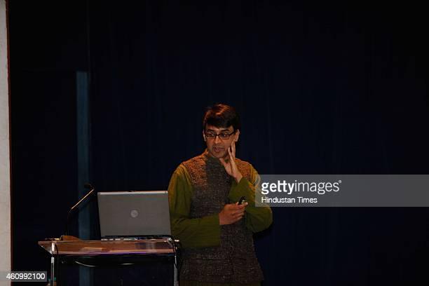 Manjul Bhargava CanadianAmerican mathematician during the 102nd Indian Science Congress at Kalina University on January 3 2015 in Mumbai India The...