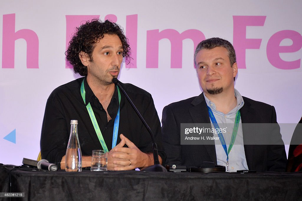 Manlio Castagna and Hani Orfani attend the panel 'Getting Social with Media. Let the Games begin!' during day 2 of Ajyal Youth Film Festival on November 27, 2013 in Doha, Qatar.